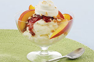 Peach Melba Icy Delight