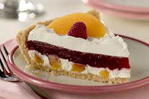 Peach Melba Ribbon Pie