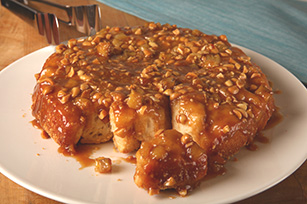 Peanut Butter-Banana Monkey Bread