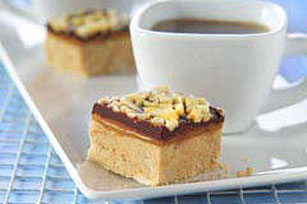 Peanut Butter, Caramel and Almond Bars Image 1