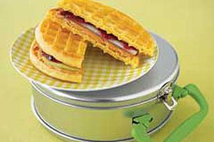 Peanut Butter Waffle-Wich