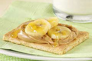 "Peanut Butter and Banana ""Toasts"""