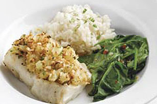 Peanut 'N Pineapple-Crusted Cod
