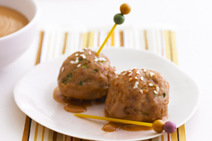 Peanutty Turkey Meatballs