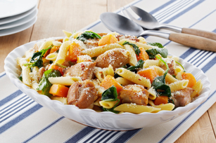 Penne with Chicken, Butternut Squash & Spinach