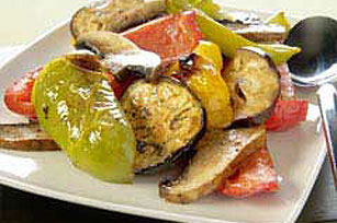 Pepper, Mushroom And Eggplant Salad