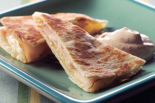 Pepperjack and Smoked Turkey Quesadillas with Chili-Lime Dipping Sauce Image 1