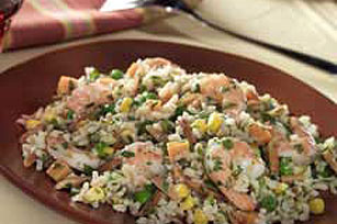 Peruvian Shrimp and Almond Paella