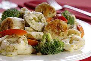 Pesto Tortellini with Scallops Image 1