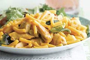Pollo poblano y macarrones con queso a la sartén Image 1