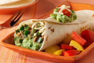 Poblano and Refried Bean Burritos