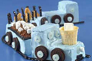 Polar Express Train Cake Image 1
