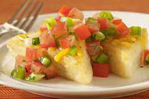 Polenta with Fresh Tomato Salsa