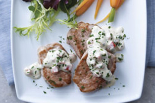 Pork Medallions with Creamy Pan Sauce Image 1