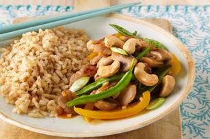 Pork, Snow Pea & Mushroom Stir-Fry