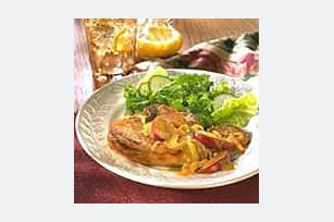 Pork Chops with Glazed Apple and Onions Image 1