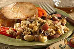 Pork Chops with Nutty Apple Stuffing Image 1