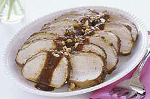 Pork Loin in Pasilla and Peanut Sauce Image 1