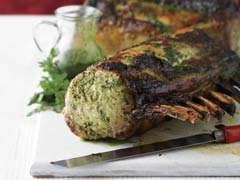 Pork Roast Rack with Cilantro-Honey Glaze Image 1