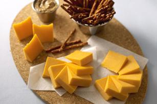 Pub-Style Cheddar Cheese Board