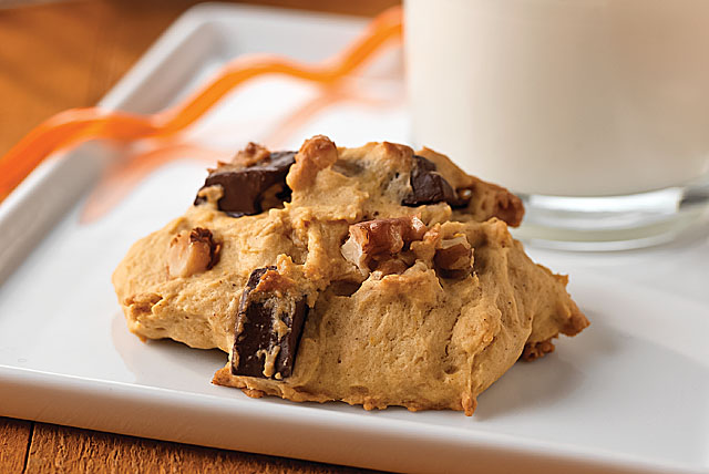 Pumpkin-Chocolate Chunk Cookies