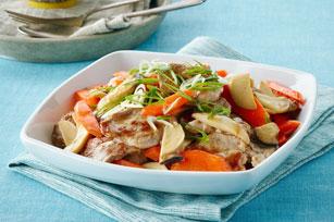 Sauté rapide de porc, de champignons et de carottes Image 1