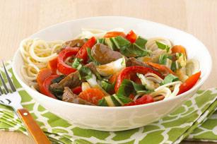 Bol éclair aux nouilles, au bœuf et aux légumes