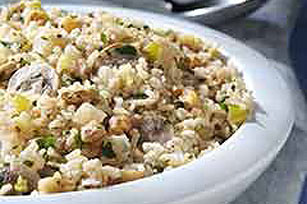 Quick Brown Rice and Mushroom Pilaf Image 1