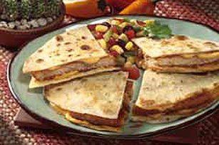 Quick Chik'n Quesadilla