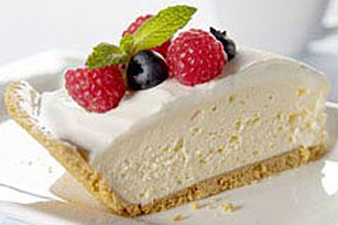 Quick Sour Cream and Fruit-Topped Cheesecake Image 1