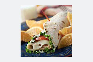 Quick Turkey Wrap Sandwich Lunch Image 1
