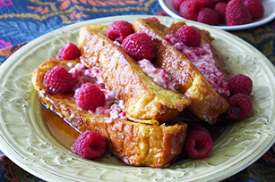 Raspberry Cream Cheese French Toast