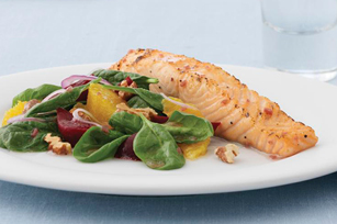 Raspberry-Marinated Salmon Fillet
