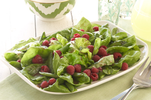Raspberry Salad with Sugar Snap Peas Image 1