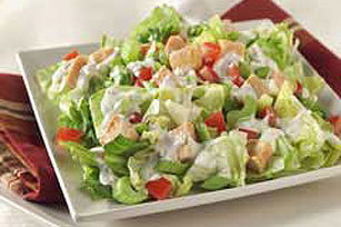 Red Hot and ROKA® Blue Chicken Salad