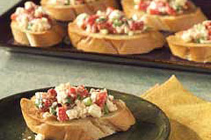 Red Pepper Bruschetta with Feta
