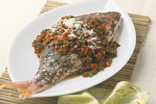Red Snapper Cancato Style with Chorizo-Tomato Salsa Image 1