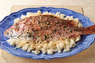 Red Snapper with Garlic Yuca Image 1