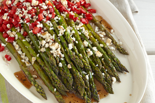 Roasted Asparagus & Peppers with Feta