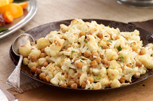 Roasted Cauliflower and Chickpea Toss