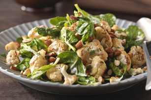 Indian Roasted Cauliflower-Spinach Salad