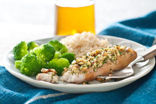 Roasted Garlic and Nut-Crusted Fish Image 1