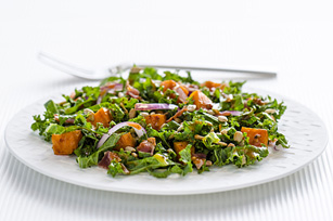 Sundried Tomato Sweet Potato and Kale Salad
