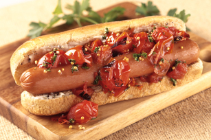 Roasted Tomato-Relish Dogs Image 1