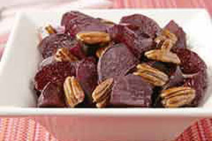 Roasted Beets with Honey-Glazed Pecans