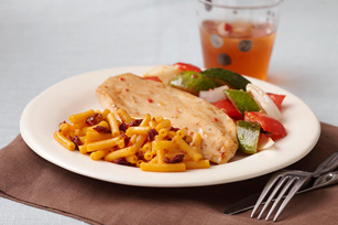 Roasted Chicken & Vegetables with Chipotle Mac & Cheese Image 1