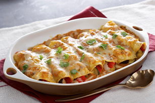 Roasted Vegetable Enchiladas Image 1