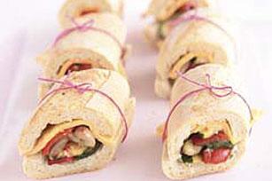 Súper sándwich latino de vegetales asados