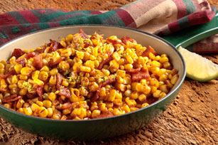 Rustic Skillet Corn with Bacon Image 1