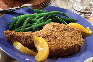 SHAKE 'N BAKE® Pork Chops and Peaches Image 1